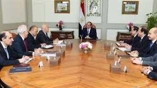 الرئيس السيسي يستقبل رئيس شركة إيني الإيطالية للبترول
