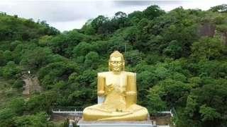 بالفيديو .. اكتشاف كهف بوذا الذهبي في سريلانكا