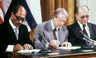 بالصور .. إسرائيل تحيي ذكرى اتفاقية كامب ديفيد للسلام بهذه الطريقة