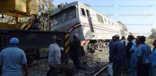 إصابة 22 شخصا في حادث خروج قطار عن القضبان بكفر الشيخ