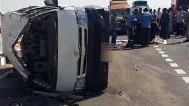 إصابة 6 عمال فى حادث بطريق القاهرة ـ الفيوم الصحراوي