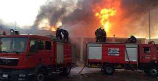 إشتعال النيران بقطعة أرض تابعة لشركة السكر بالطالبية
