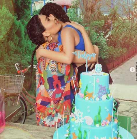 سيرين عبد النور تحتفل بعيد ميلاد ابنتها تاليا