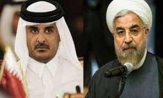 شاهد ..أمير قطر يجتمع بالرئيس الإيراني فى هذا المكان
