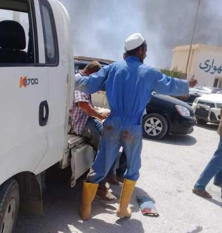 بالفيديو.. 4 قتلى في تفجير إرهابي استهدف جنازة اللواء خليفة المسماري بليبيا