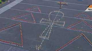 السيسي يتابع مشهد النصر من أوبرا عايدة خلال حفل الكليات العسكرية