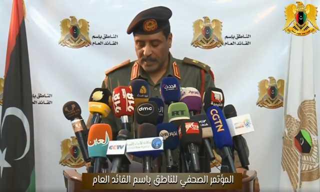 الجيش الليبي بقيادة المشير خليفة حفتر يعلن قبوله بالهدنة الأممية خلال عيد الأضحى