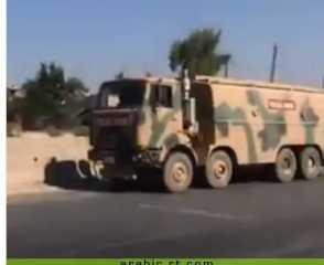 شاهد .. طيران الجيش السوري يقصف رتلا تركيا ويمنعه من التقدم إلى خان شيخون