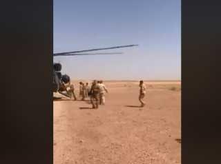 """بالفيديو.. القوات العراقية تلاحق """"داعش"""" في الحدود مع السعودية"""