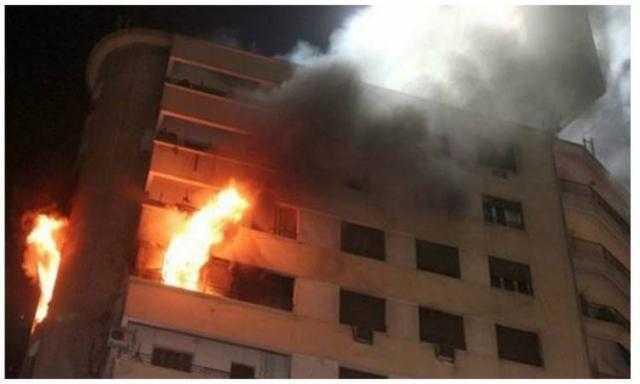 إخماد حريق نشب داخل شقة سكنية فى الخليفة