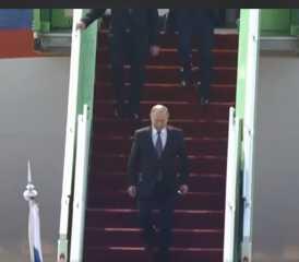 الرئيس الروسي فلاديمير بوتين يصل إلى السعودية