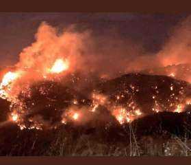 بالفيديو..الحرائق تجتاح لبنان