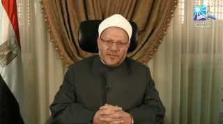 بالفيديو.. مفتى الجمهورية يهنئ شعب مصر والأمة الإسلامية بميلاد الرسول