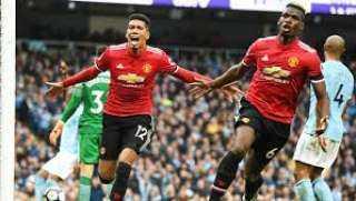 أهداف مباراة مانشستر يونايتد ومان سيتي 2-1 في الدوري الإنجليزي