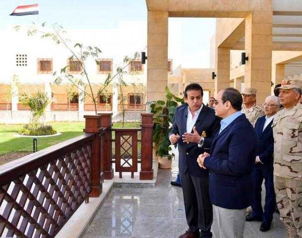 الرئيس السيسى يتفقد جامعة الملك سلمان الدولية بمدينة شرم الشيخ