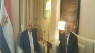 بالفيديو..رئيس البرلمان يلتقى نظيره الليبى على هامش منتدى شباب العالم