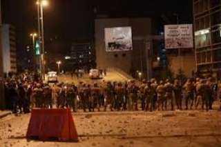 بث مباشر .. اشتباكات قوات الامن والمحتجين وسط بيروت