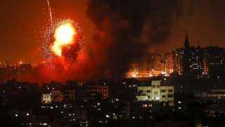 طائرات الاحتلال الاسرائيلى تشن غارات على قطاع غزة(فيديو)
