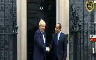 الرئيس السيسي يصل مقر مجلس الوزراء في بريطانيا