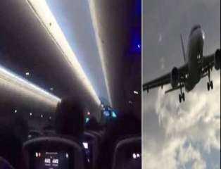 صراخ ركاب طائرة مغربية أثناء عاصفة(فيديو)