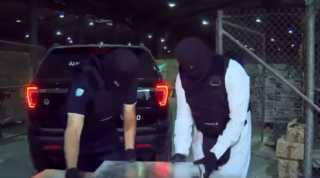 بالفيديو.. احباط تهريب كميات كبيرة من المخدرات فى السعودية