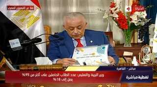 بث مباشر.. وزير التربية والتعليم الدكتور طارق شوقي يعتمد النتائج النهائية للثانوية العامة