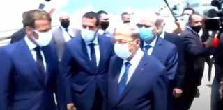 بالفيديو.. ماكرون يصل لبنان فى أول زيارة بعد انفجار مرفأ بيروت