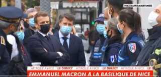 بالفيديو.. الرئيس الفرنسي ماكرون يصل إلى نيس