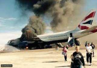 إسبانيا.. اندلاع حريق في طائرة تابعة للخطوط البريطانية.. فيديو