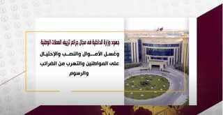 جهود وزارة الداخلية فى مجال جرائم تزييف العملات وغسل الأموال والنصب على المواطنين