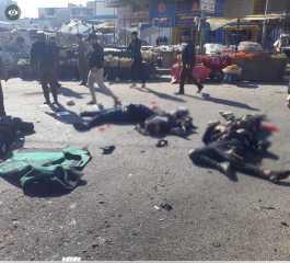 بالفيديو.. عشرات القتلى والجرحى بتفجير انتحاري وسط العاصمة العراقية بغداد