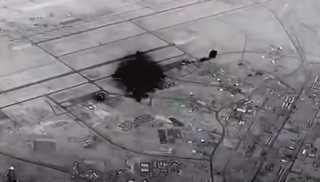 بالفيديو.. مشاهد توثق الضربة الإيرانية لقاعدة عين الأسد في العراق