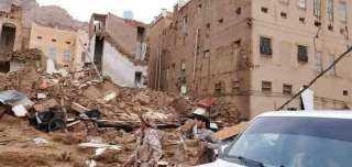 بالفيديو.. السيول تضرب مدينة تاريخية في اليمن محدثة أضرار مادية وبشرية