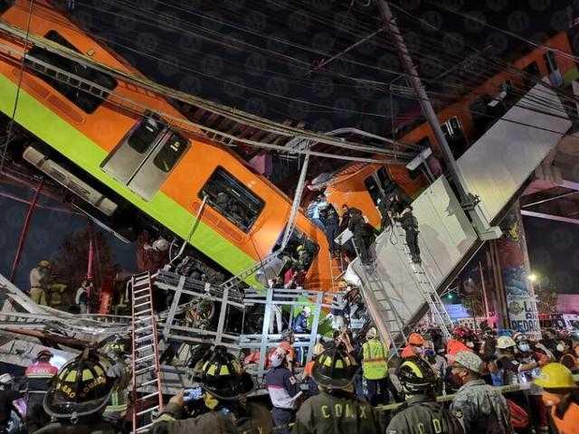 بالفيديو.. المكسيك.. عشرات القتلى والجرحى جراء انهيار جسر لحظة مرور قطار أنفاق