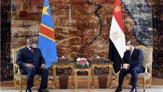 السيسي يستقبل رئيس الكونغو الديمقراطية بمطار القاهرة