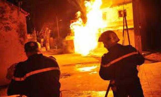 السيطرة على حريق بمحل تجاري في الطالبية