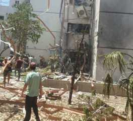 بالفيديو.. أثار القصف الفلسطيني على مدن إسرائيلية