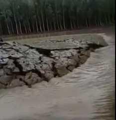 فيديو.. لظاهرة غريبة في الهند.. ظهور أرض بشكل مفاجئ