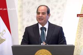 """السيسي يقدم التحية لـ""""أحمد عمر هاشم"""" فى احتفالية ذكرى المولد النبوى"""