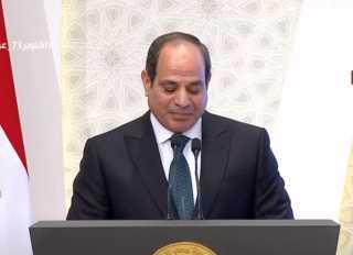 الرئيس السيسي: رسالة الإسلام التي تلقاها النبى الكريم رفعت من قيمة العلم والمعرفة