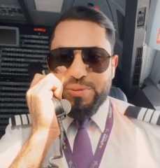 بالفيديو.. طيار سعودي يوثق أول رحلة طيران له ويلقي قصيدة على الركاب من قمرة القيادة